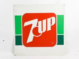 7UP BEVERAGES S S AlUMINUM SIGN
