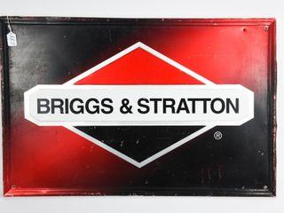 BRIGGS   STRATTON S S AlUMINUM EMBOSSED SIGN