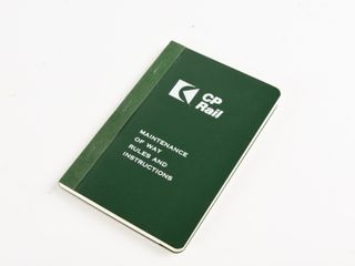 1955 CP RAIl MAINTENANCE BOOKlET  NOS