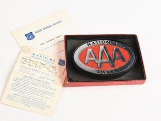 1953 NATIONAl AAA AWARD EMBlEM   BOX