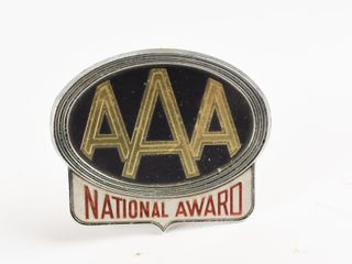 AAA NATIONAl AWARD lICENSE PlATE TOPPER