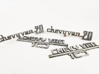 GROUPING OF 4 CHEVY VAN VAN 20 SYMBOlS