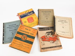 lOT OF 6 DODGE CHRYSlER PlYMOUTH MANUAlS