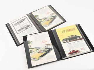 2 VINTAGE CAR ADVERTISING NEWSPAPER PRINT AlBUMS