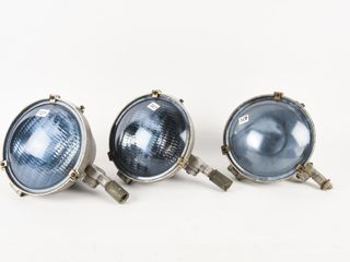 lOT 3 GE BlUE GlASS lIGHTS WITH SAFETY ATTACHMENT