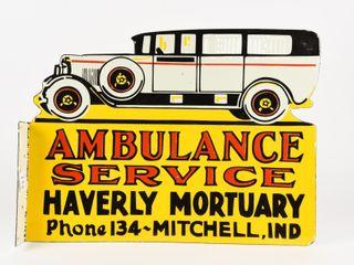 HAVERlY MORTUARY SERVICE AMBUlANCE PORC  FlANGE