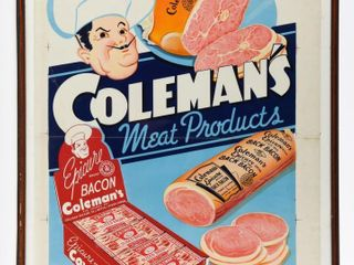 RARE COlEMAN S MEAT PRODUCTS PAPER ADVERTISING