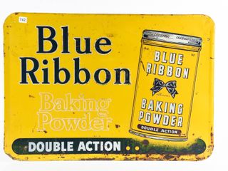 BlUE RIBBON BAKING POWDER  DOUBlE ACTION SST SIGN