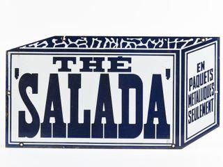 THE  SAlADA  DIECUT TEA BOX SSP SIGN  REPRO