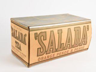 SAlADA  BlACK TEA lABEl CARDBOARD BOX