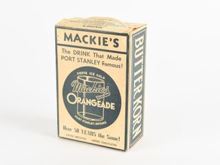 RARE MACKIE S ST  THOMAS  ON  DRIVE IN ADV  BOX