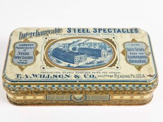 VINTAGE INTERCHANGEABlE STEEl SPECTAClES TIN BOX