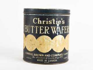VINTAGE CHRITIE S BUTTER WAFERS 12 1 2 OZS TIN