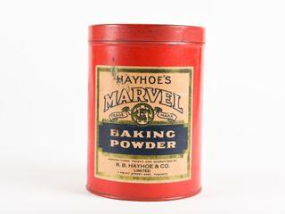 HAYHOE S MARVEl BAKING POWDER CAN