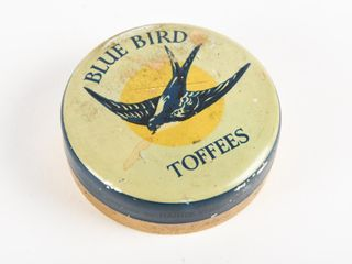 BlUE BIRD TOFFEES SMAll CANDY TIN