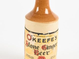 O KEEFE S STONE GINGER BEER 10 OZ  BOTTlE  NO CAP