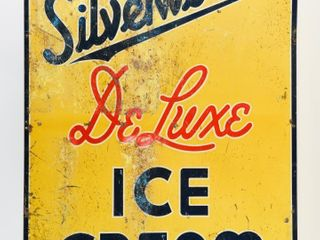 SIlVERWOOD S DElUXE ICE CREAM SST EMBOSSED SIGN