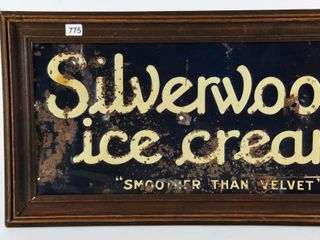 SIlVERWOOD ICE CREAM SMOOTHER THAN VElVET SST SIGN