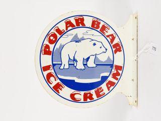 POlAR BEAR ICE CREAM PAINTED METAl FlANGE