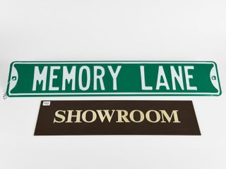 GROUPING OF 2   STREET   SHOWROOM SIGNS