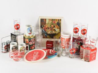 GROUPING OF COKE   SODA SHOP COllECTIBlES