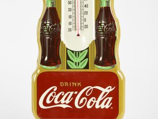 2003 DRINK COCA COlA PAINTED METAl THERMOMETER