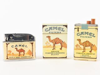 lOT OF 3 CAMEl FIlTERS CIGARETTE lIGHTERS NO BOX S