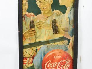 VINTAGE DRINK COCA COlA ICE COlD PAPER ADVERTISING