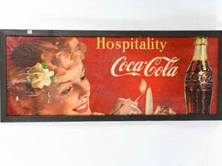 VINTAGE COCA COlA HOSPITAlITY PAPER ADVERTISING