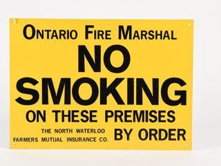 ONTARIO FIRE MARSHAl NO SMOKING SST SIGN