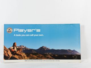 PlAYER S CIGARETTES S S CARDBOARD ADVERTISING