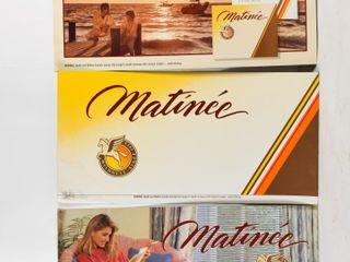 lOT OF 3 MATINEE CIGARETTE CARDBOARD ADVERTISING