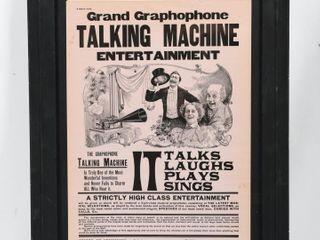 GRAND GRAMOPHONE TAlKING MACHINE 1898 ADVERTISING
