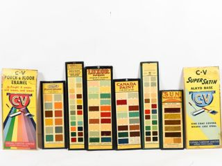GROUPING OF CANADA PAINT SAMPlE BOARDS
