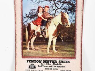 1965 FENTON FORD MOTOR SAlES CHESlEY ON  CAlENDAR