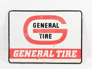 GENERAl TIRE S S PAINTED METAl EMBOSSED SIGN