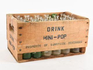 DRINK SUNNYSIDE MINI POP BEVERAGE BOTTlES  CRATE