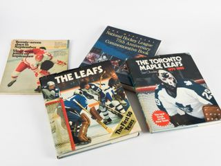 lOT OF 4 CANADIAN HOCKEY HARD COVERED BOOKS