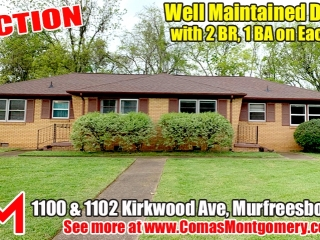 Well Maintained Duplex in Bellwood Subdivision - 2 Bedroom, 1 Bath on Each Side - Auction May 18th