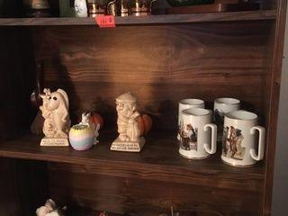 Three shelves full