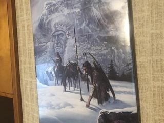 Two framed Indian pictures