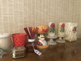 Candles and incense burners