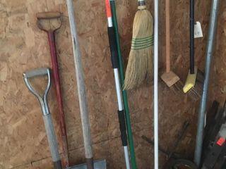 Brooms   shovels