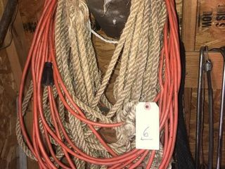 Sisal rope and extension cord