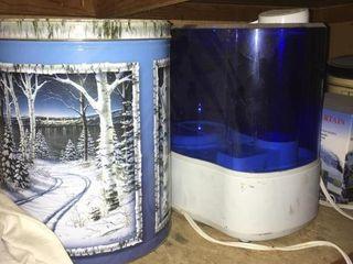 2 window light sets and tins
