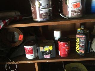 Two shelves full of goodies