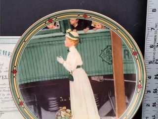 A Mother's Welcome Plate #19366 I Norman Rockwell
