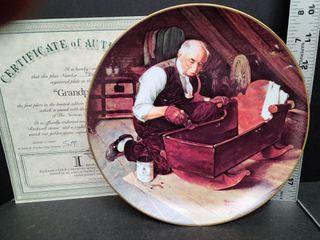 Grandpa's Gift # 7816U Norman Rockwell