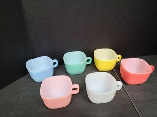 6 Glassbake Cups