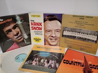 6 Old Time Records Including Country Gospel